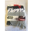 M&S Star Wars Cotton Trunks x 3 Multi-Coloured Size: 8 - 9 Years