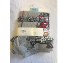M&S Marvel Cotton Trunks x 3 Multi-Coloured Size: 15 - 16 Years