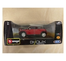 Burago Bijoux Collection Mini Cooper. Red and White.