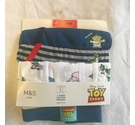 M&S Toy Story Cotton Trunks x 3 Multi-Coloured Size: 9 - 10 Years