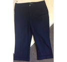 Ralph Lauren Cropped Trousers Blue Size: S