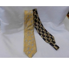 Pierre Cardin and M&S 2 silk ties 1 yellow ,1blue Size: Not specified
