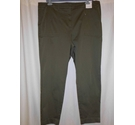 M&S Per Una 7/8th Slim Cotton Trousers, Khaki Green Size: XXL