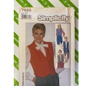 Simplicity 7669 80s sewing pattern short and long waiscoat. Not used