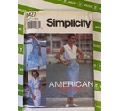 Simplicity 842 sewing pattern. Top, skirt sizes 12 - 16. Not used, all pieces present.