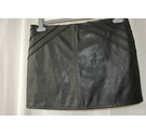 Topshop Faux Leather Skirt, Black Size: 12