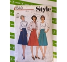 Style 1649 80s skirt sewing pattern. Use, all pieces present