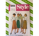 Style 2594 80s sewing pattern. Skirts size 14. Used, all pieces present