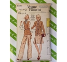 Vogue 8729 80s Jacket, top, skirt. Used, TROUSERS pieces not present