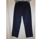 M&S Collection Smooth Elasticated Trousers, Navy Size: XS