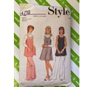 Style 4718 80s tunic and trouser sewing pattern. Used