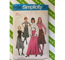 Simplicity 9496 80s skirt sewing pattern. Used