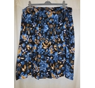 M&S Collection Wrapover Pleated Skirt, Blue Mix Size: 24