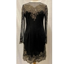 Karen Millen Lace Patterned Evening Dress Black Size: 14