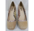 Next Platformed Court Shoe Beige Size: 5