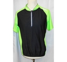 Muddyfox short sleeved cycling top green & Black Size: L