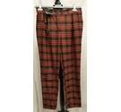 New Look Tartan Trousers Red Size: 30""