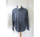 Fat Face smart work shirt puiped casual smart detailed denim blue Size: L