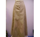 M&S Marks & Spencer suede effect skirt brown Size: 14