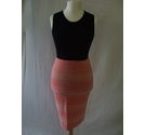 River Island bodycon tight stretch pencil skirt pattern pink geometric Size: 12