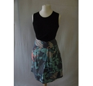 Fat Face cotton adjustable floral Hawaiian skirt grpahic blue multi Size: 12