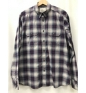 M&S Marks & Spencer Checked Shirt, Purple Size: L