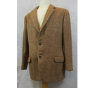 W Bill Ltd vintage check tweed jacket brown & cream Size: XL