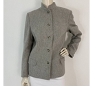 Jaeger Mandarin Collared Jacket Cloud Grey Size: 14