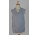 Cotton Cashmere Grey Vest Light Grey Size: M