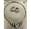Necklace and clip on earring set