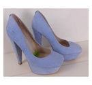 NWOT Faith Suede Court Shoes Powder Blue Size: 3