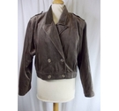 Jaeger 80s Velour Short Jacket Brown Size: 10