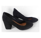 NWOT Marks & Spencer Suede Court Shoe Black Size: 3