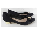 Carvela Kurt Geiger Suede Court Shoe Black Size: 6