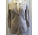 Cotswold Collections. Merino wool cardigan/jacket. Mid-grey/fawn. Size: S