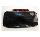 Dune Patent Clutch Bag Black Size: One size