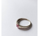 Sterling silver ring with pink centre