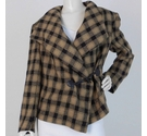 Joyce Ridings Shawl Collar Coat Brown Size: M