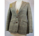 Aquascutum vintage tweed jacket brown check Size: XS