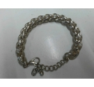 Silver toned chunky unusual type bracelet