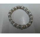 Stretch bracelet with large beads with round rondells of sparkly crystals