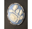 Blue Cameo Brooch