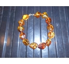 Large chunky type amber coloured beads