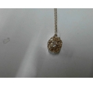 Gold toned chain with fancy ball pendant