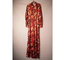 Pretty Little Thing Satiny Jumpsuit Russet Print Size: 10