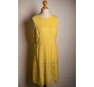 F & F Party Dress Yellow Lace Size: 16