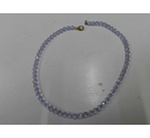 Vintage crystal faceted bead necklace with lilac tinge
