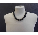 Black bead necklace all beads same size