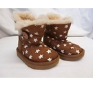 UGG Fur Baby UGG Boots with Stars Brown Size: 5