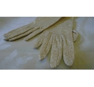 VINTAGE GOLD LAME OPERA GLOVES XS